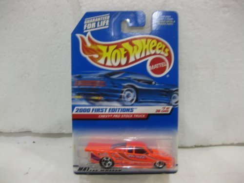 32 Scale Stock (2000 First Editions #7 Of 36 Chevy Pro Stock Truck In Neon Pink Diecast 1:64 Scale Collector #67 By Hot Wheels)