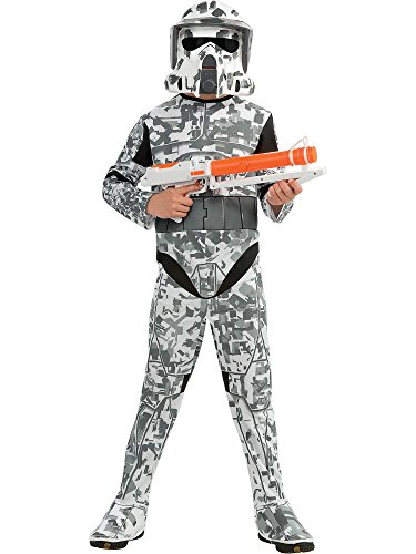 Star Wars The Clone Wars, Child's Costume And Mask, Arf Trooper Costume, Medium (Ages 5 to 7) 2018