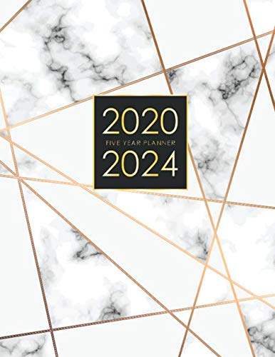 2020-2024 Five Year Planner: Elegant Marble Cover | Five Year Monthly Planner | 60 Months Calendar with Holidays | 5 Year Appointment Calendar | ... Notebook (5 Year Monthly Planner 2020-2024)