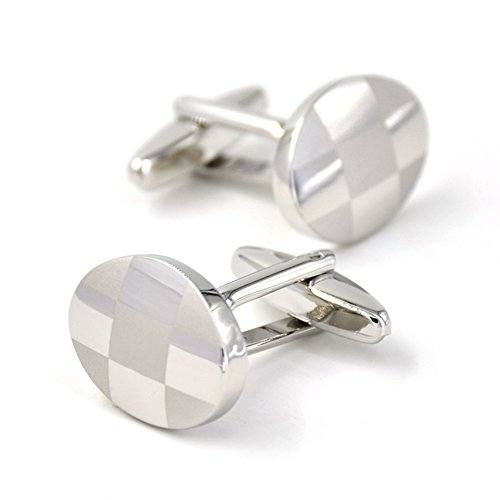 mrvan-oval-metal-cufflinks-platinum-plated-with-polished-edge-wedding-business-gifts-for-him