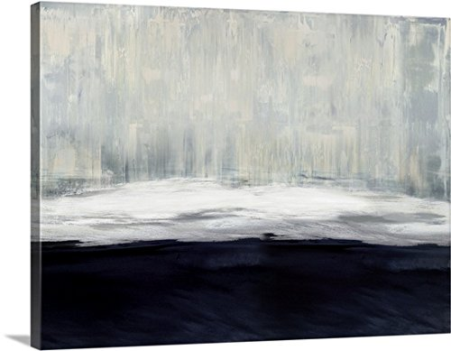 Gallery-Wrapped Canvas entitled White on Blue by Taylor Hamilton 48''x36'' by greatBIGcanvas