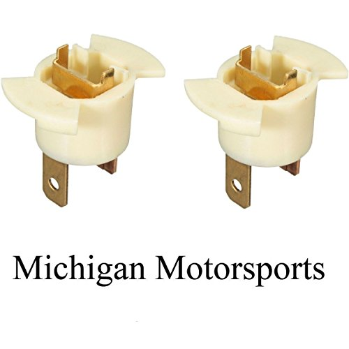 Michigan Lighting (Michigan Motorsports QTY2 H1 Halogen Headlight Bulb Sockets Holder replaces Honda Acura 33116-SD4-961)