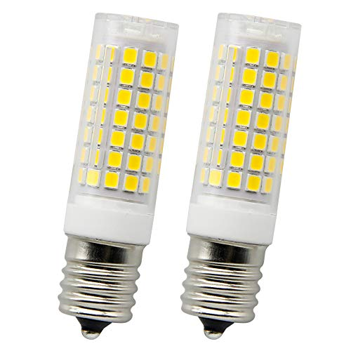 E17 led Light Bulb,2018 New Bulbs 88 LED 6W Consumption 75W Equiavlent Halogen Bubs. AC 120V White Light 6000K(Pack of 2)