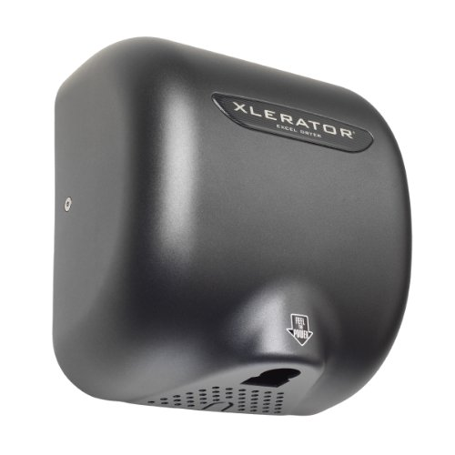 XLERATOR XL-GR Automatic High Speed Hand Dryer with Graphite Cover and 1.1 Noise Reduction Nozzle, 12.5 A, 110/120 V by XLERATOR