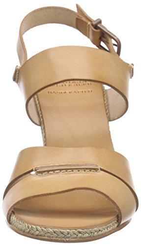 Fred de la Bretoniere Fred Double Front Strap Rope Sandalet 9.5cm Heel Leather Sole Lloret - Sandalias Mujer Beige