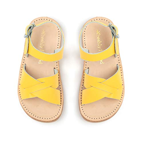 (Freshly Picked - Saybrook Toddler Boy Girl Leather Sandals - Size 4 Yellow)