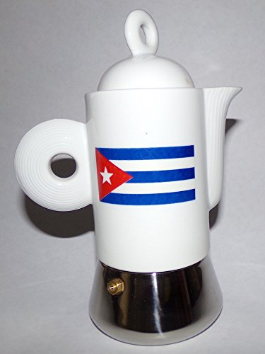 Stainless Steel and Porcelain 4 Demitasse Cups (Flag)