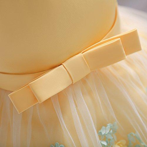 VIKITA Baby Mädchen Blumen Hochzeits Festlich Partykleid Geburtstag Prinzessin Kleid L1845Gelb
