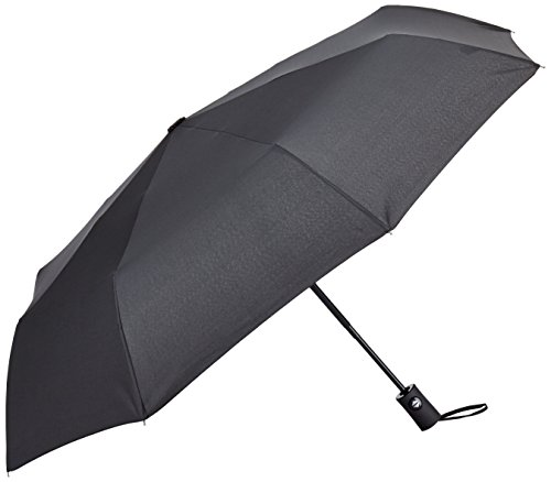 InnooTech Regenschirm Automatischer Taschenschirm mit 96cm Durchmesser für Damen und Herren, Sturmfest Windfest Stabil Klassisch Schwarz