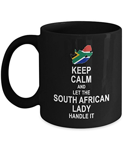 South African Gift for Women - Keep Calm And Let The South African Lady Handle It Coffee Mug - Birthday Gag Gifts for Grandma Mom Aunt Girlfriend Coffee Tea Cup - South African Ladies Hot