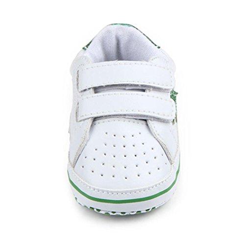 Babyschuhe Longra Baby Mädchen Jungen Soft fünfzackige Sterne Baby Kleinkind Schuhe atmungsaktiv Sneakers Casual Schuhe Lauflernschuhe Krippeschuhe (0 ~ 18 Monate) Green
