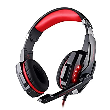 Gaming Headset For Playstation Ps4 35mm Fortnite Headphone For Ps4 Pc Xbox One Controller Red
