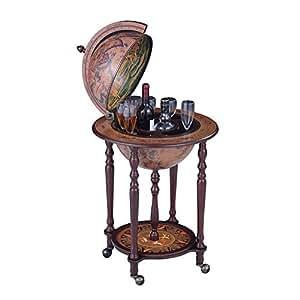 Amazon Com Wood Globe Wine Bar Stand 16th Century Italian