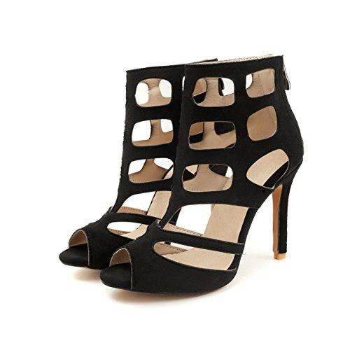 tacón bajo Zapatos tirantes Zapatos Zapatos Color de de romana y Mujeres de cordones Zapatos Sandalias mujer de Black verano mujer con 42 mujer Sandalias de Peep primavera Toe Púrpura tamaño de Ew7qgvxgPR