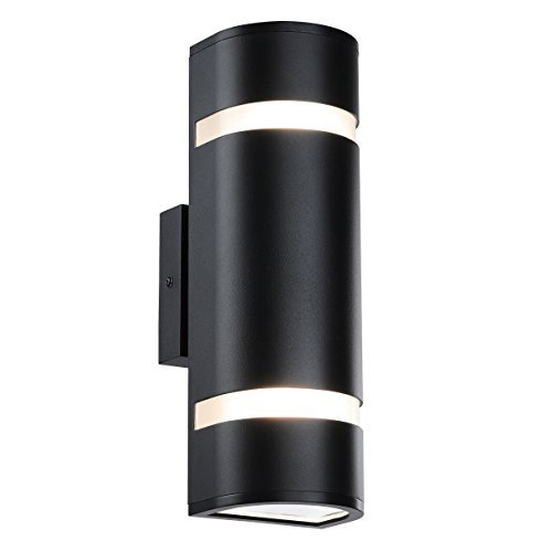 Outdoor Wall Light In D Shape With Aluminum Modern Wall