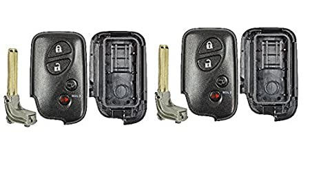 1 HYQ14ACX qualitykeylessplus Bundle Replacement Remote Case and Button Pad for Lexus remotes with FCC ID HYQ14AEM HYQ14AAB