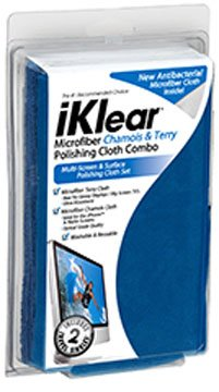 iKlear Combo Cloth Pack Includes Both Terry and Chamois Style Microfiber Cloths (iK-MK-COM)