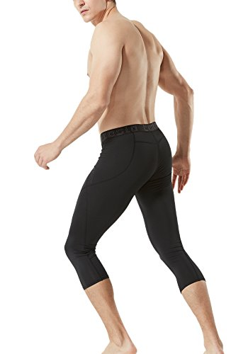 TSLA TM-MUC18-KLB_Medium Men's Compression Capri Shorts Baselayer Cool Dry Sports Tights MUC18 by TSLA (Image #6)