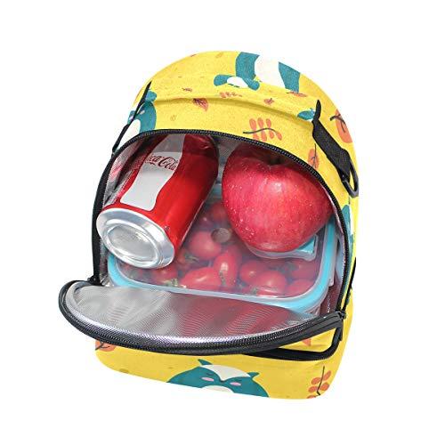 el la para animados de pincnic para diseño de con almuerzo Bolsa correa Alinlo escuela aislante con búhos hombro de de dibujos ajustable xUSZz6g