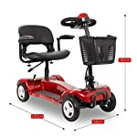 41cgKHAO29L. SS150 Monopattino pieghevole per anziani 24V12Ah sedia a rotelle elettrica portatile pieghevole con portata di disabilità 190…