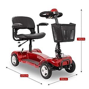 41cgKHAO29L. SS300 Monopattino pieghevole per anziani 24V12Ah sedia a rotelle elettrica portatile pieghevole con portata di disabilità 190 kg / scooter disabili / può viaggiare 25 km