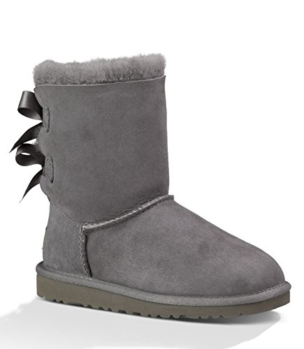 UGG Girls Bailey Bow Ruffles Boot Nightfall Size 3 M US Little Kid