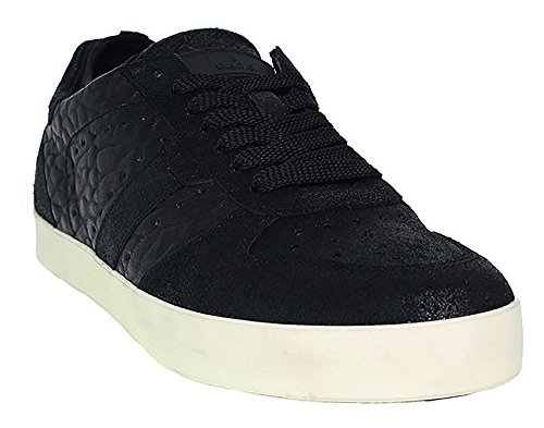 D.A.T.E. Herren Sneaker | Court Socks Pop - schwarz Schwarz