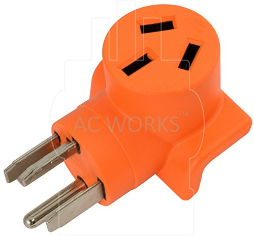 AC WORKS [WD14301050] 30Amp 4-Prong 14-30P Dryer Plug to 10-50R 50Amp 125/250V Welder adapter by AC WORKS (Image #3)