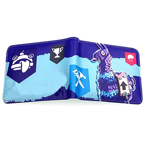 Youth Boys BI-Fold Wallet With Coin Purse For Battle Royale Tnite Video Game Gift Short Pocket 17