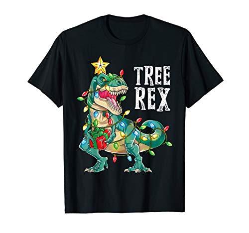 (Christmas Shirts for Boys Kids Dinosaur Tree Rex Pajamas)