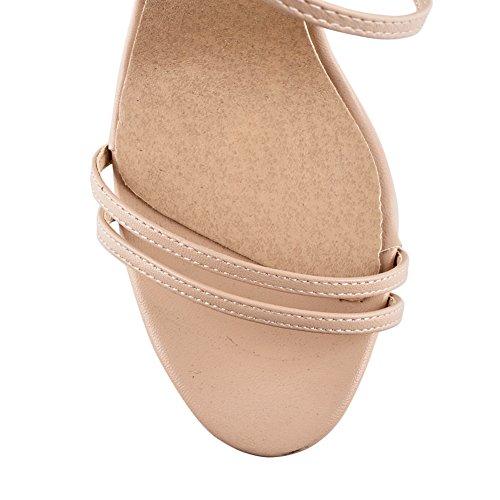 Damen Open Toe Sandalen High-Heels Stiletto Criss Cross Knöchelriemchen Nackt