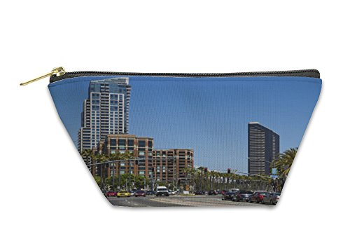 Gear New Accessory Zipper Pouch, Downtown San Diego California USA, Large, - San Diego Stores Downtown