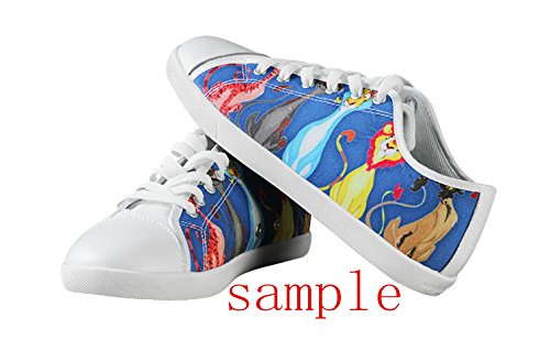 The Nightmare Before Christmas Logo Ladys Halkfria Tygskor Tnbc Canvas Shoes14