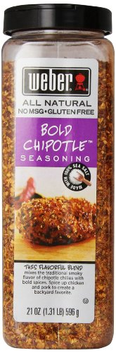 Weber Seasoning, Bold 'N Smokey Chipotle, 21 Ounce