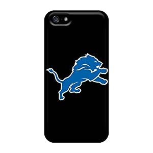 Ultra Slim Fit Hard Elaney Case Cover Specially Made For Iphone 5/5s- Detroit Lions 7