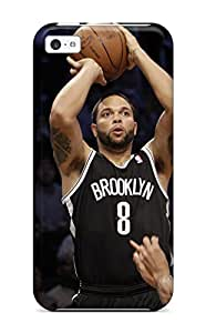 Fashion Tpu Case For Iphone 5c- Brooklyn Nets Nba Basketball (47) Defender Case Cover