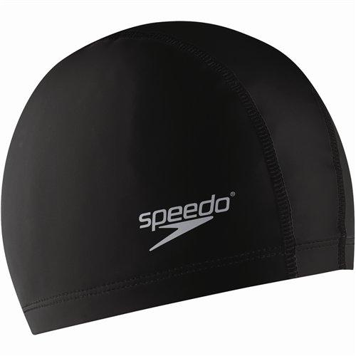 Speedo Silicone Stretch Fit Swim Cap, Black, ()