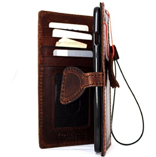 Price comparison product image Genuine Vintage Oiled Leather Case for Iphone 6s Plus Book Wallet Handmade Retro with Strap Luxury 6 S magnetic slim DavisCase