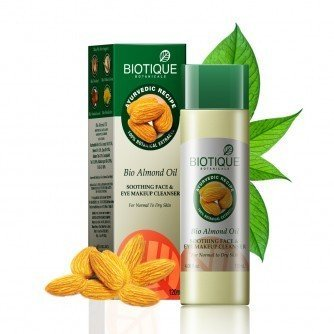Biotique Bio Almond Oil Oothing Face & Eye Makeup Cleansers For Normal To Dry Skin 120Ml