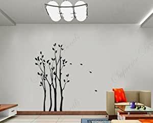 Custom PopDecals Small forest 90 in high - Beautiful Tree Wall Decals for Kids Rooms Teen Girls Boys Wallpaper Murals Sticker Wall Stickers Nursery Decor Nursery Decals