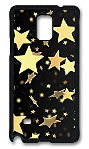 MOKSHOP Adorable Golden Stars Hard Case Protective Shell Cell Phone Cover For Samsung Galaxy Note 4 - PCB