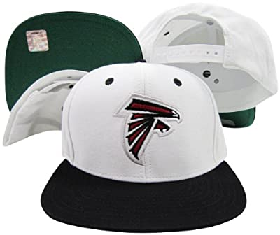 Reebok Atlanta Falcons White/Black Two Tone Snapback Adjustable Plastic Snap Back Hat/Cap