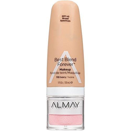 Almay Best Blend Forever Makeup, #110 Ivory, 1 fl oz