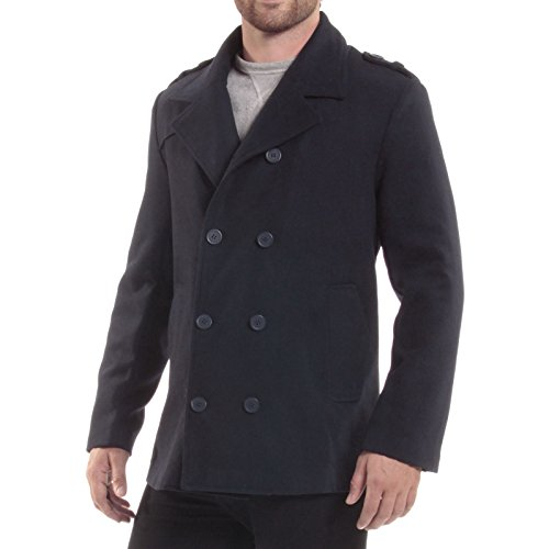 776bc3cc43 Alpine Swiss Jake Mens Wool Pea Coat Double Breasted Jacket | Nektes