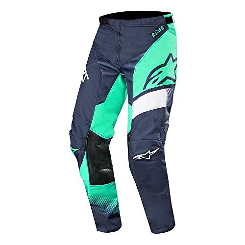 Alpine Stars Racer Supermatic Pants MX Pants 34 inch Dark Navy Teal White