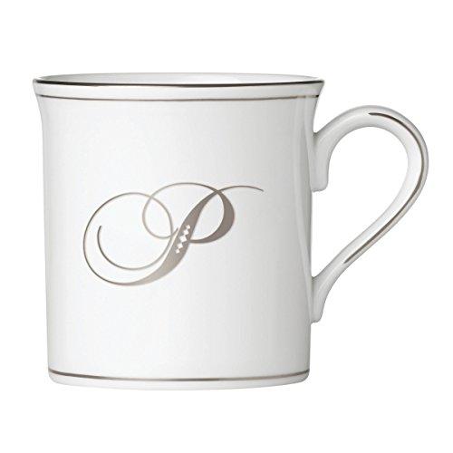 Lenox 874547 Federal Platinum Monogrammed Mug