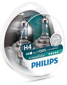 Philips X-treme Vision +130% Headlight Bulbs (Pack of 2) (H4 60/55W) (Headlight For A 2002 Honda Civic)