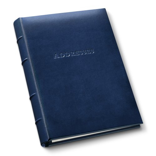 (Gallery Leather Desk Address Book Acadia Navy)