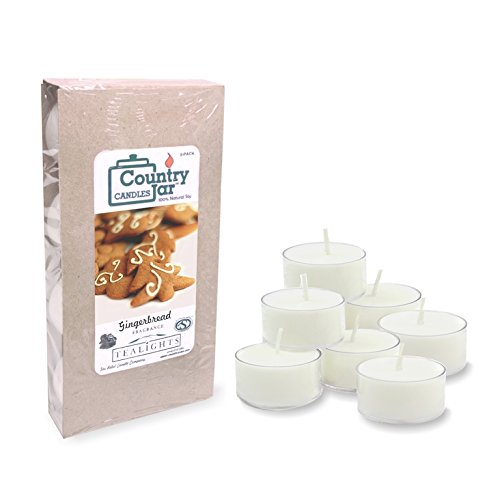 Country Jar Gingerbread Soy Tea Lights Candle (8-Pack) .75 oz. ea. / 20 Percent of 3 or More Sale!