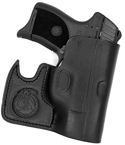 HOLSTERMART USA Ambidextrous Premium Black Leather Front Pocket Concealment Holster for Ruger LC9 LC9S LC380 EC9S ()